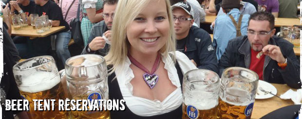Oktoberfest Tours Beer Tent Reservations