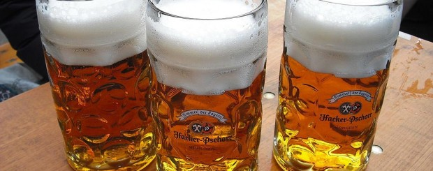 Bavarian beer at Oktoberfest in Munich, Germany thanks to the Reinheitsgebot