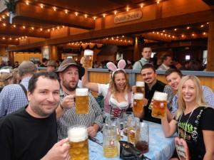 Enjoying beer at Oktoberfest in Munich, Germany thanks to the Reinheitsgebot