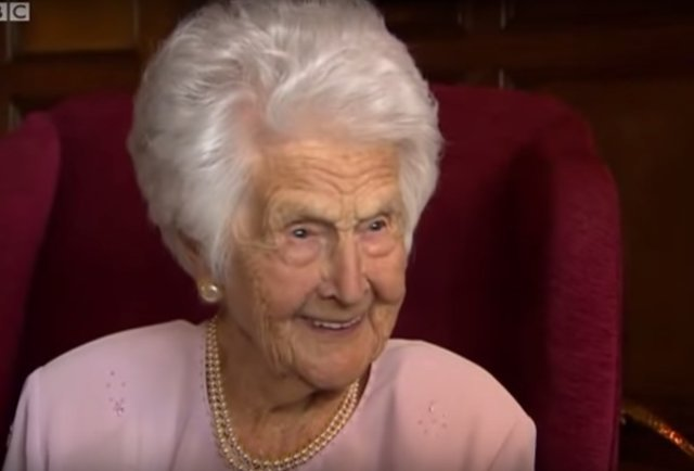 Grace Jones from England, celebrated her 109th birthday (Source: BBC)