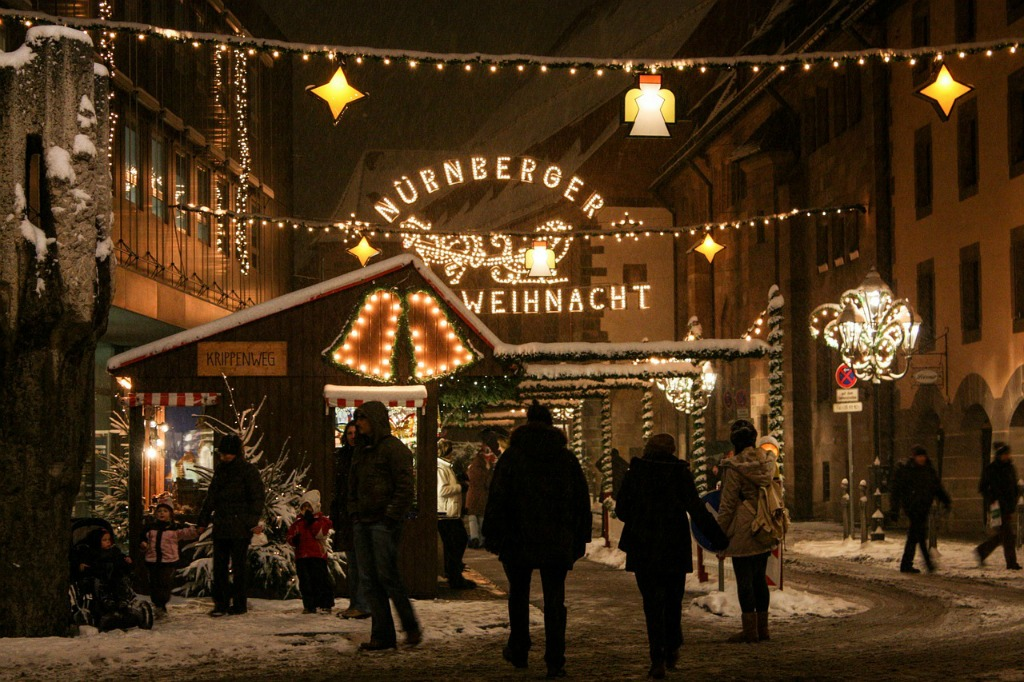 7 Awesome German Christmas Markets   Gendarmenmarkt Berlin   Ravenna Gorge, Black Forest   Striezelmarkt, Dresden   Old Palace, Stuttgart, Germany   Christkindlesmarkt, Nuremberg