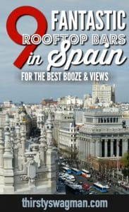 #Rooftop bars in #Spain | #Barcelona, #Valencia, #Ibiza, #Madrid, Malaga, #Granada, #Seville #traveltips
