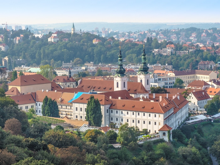 8 Outstanding Outdoor Places to Drink in Prague, Czech Republic, Czechia | Prague beer gardens and rooftop bars with great views. Strahov Monastery