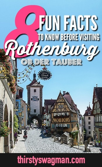 8 things you need to know before visiting medieval Rothenburg ob der Tauber, Germany #rothenburg #germany #traveltips #travelguide #medieval